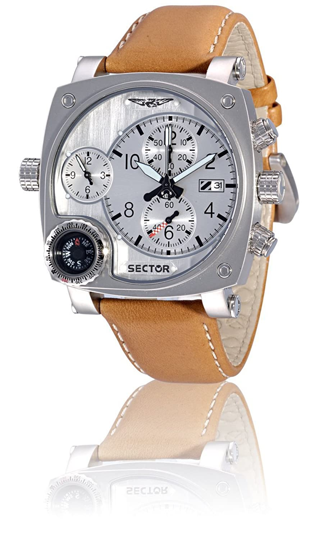 Sector Herren-Armbanduhr Chronograph Quarz Leder R3251907015