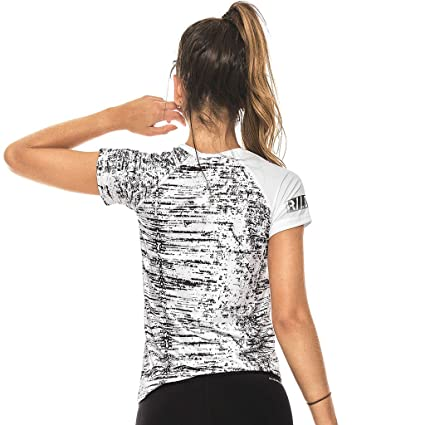 Amazon.com: Babalu Fashion Gym Colored Shirts For Women Workout Fitness Tees Camisetas Deportivas Mujer Black One Size: Clothing