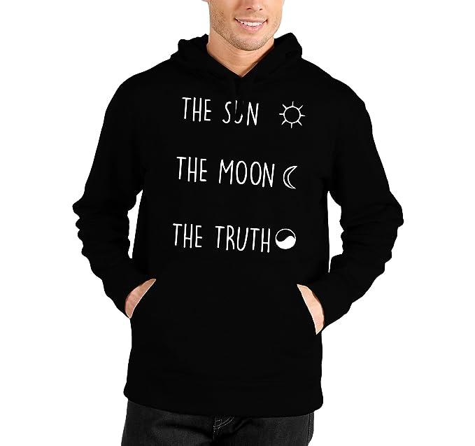 Teen Con Felpa Truth Sun Wolf The Bubbleshirt Cappuccio Moon wgqx0