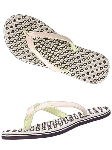 buy online f32d6 ba5f6 adidas Damen Zehensandale Eezay Dots Zehentrenner (37 EU)