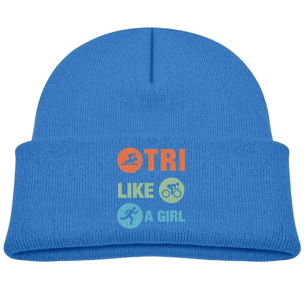 Gorro Beanie Triatlón Like A Girl Fleece Knit Hat Baby Girls ...