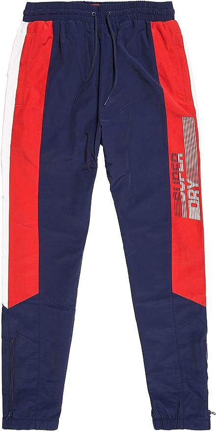 Superdry Mens New Orange Label Classic Joggers Zip Pockets Slim Fit Rich Navy