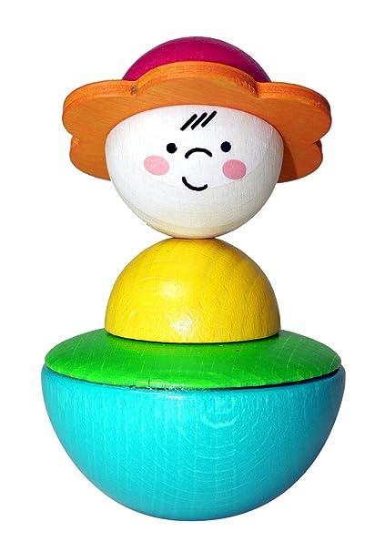 Amazon.com: Hess bebé juguete de madera Wobbel BounceBack ...