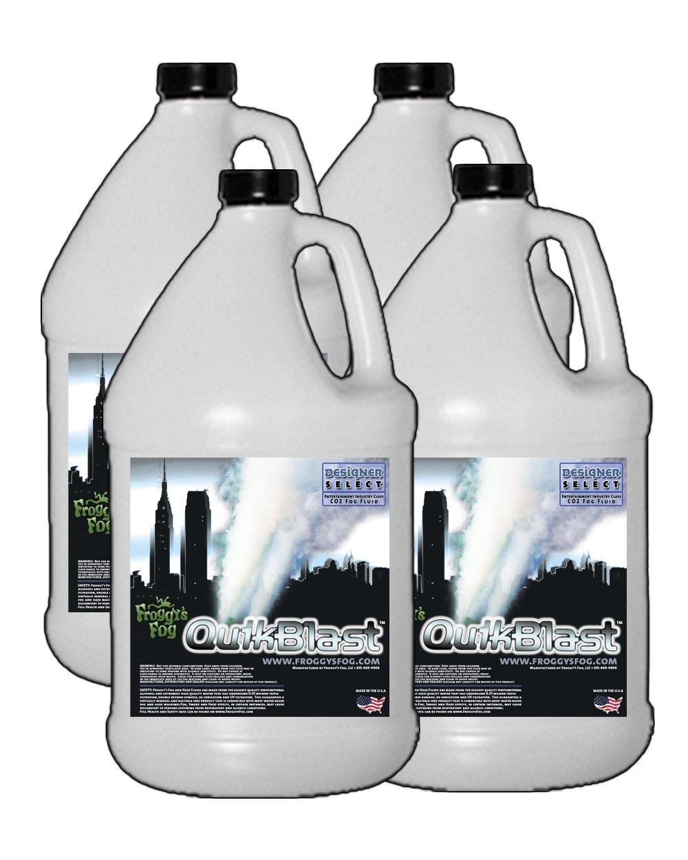 4 Gal - QuikBlast - Designer Select CO2 Blast Effect Fog Machine Fluid by Froggys Fog