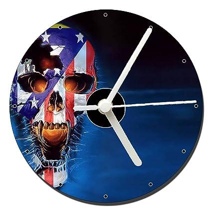 Atletico De Madrid Calavera Skull Reloj CD Clock 12cm