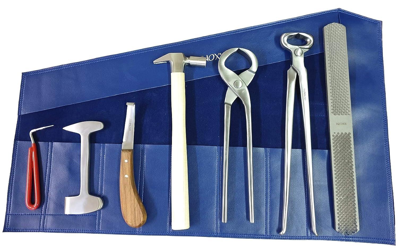 EQUINOX Farrier Hoof Kit Tack Room Farrier Tools Roll Up Wallet Storage