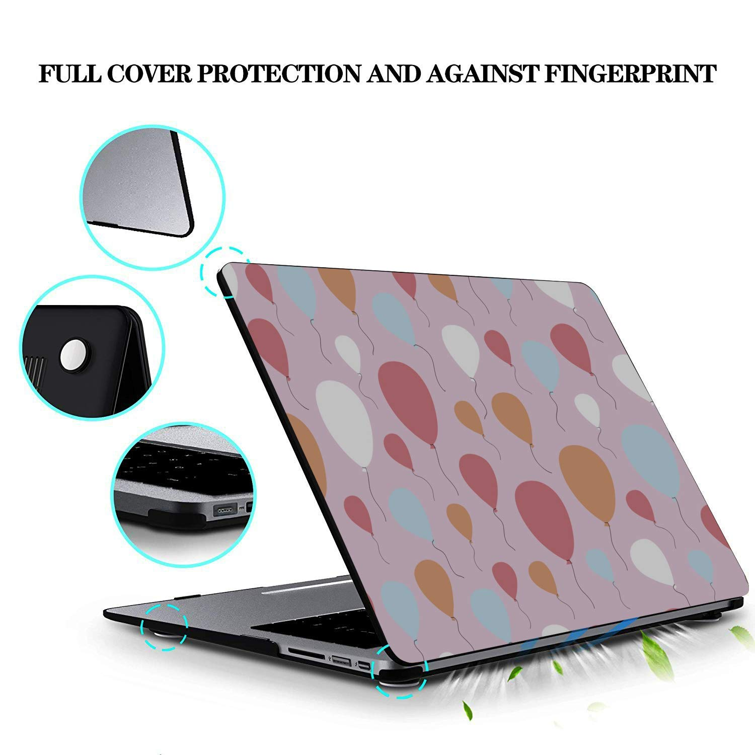 MacBook Accessories Surprise Colorful Party Balloons Plastic Hard Shell Compatible Mac Air 11 Pro 13 15 13inch MacBook Pro Case Protection for MacBook 2016-2019 Version
