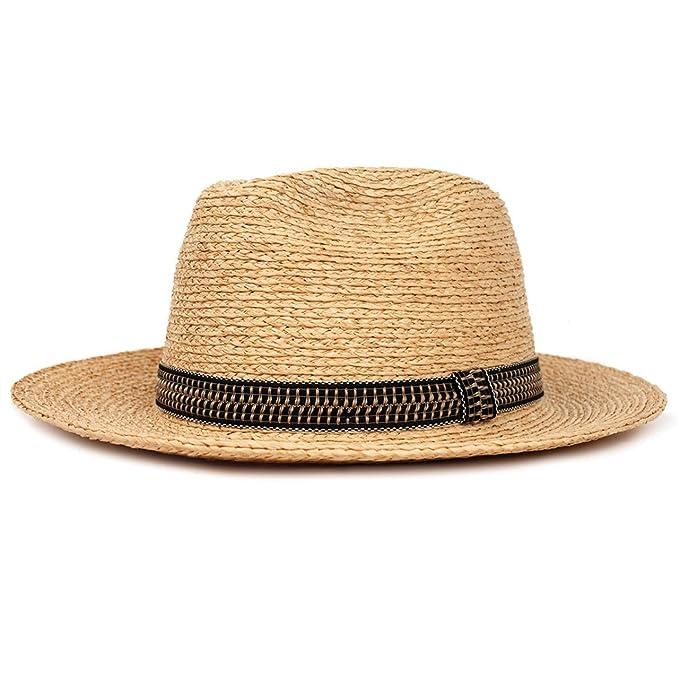 213b4b54a047c Brixton Unisex Santiago Fedora Tan Hat MD (7 1 4)  Amazon.ca ...