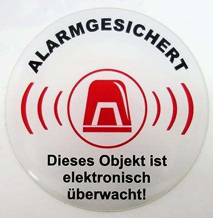 Pegatinas 3D 900024 advertencias señal alarma seguro blanco ...