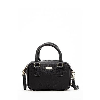 5aa638e82cf6 Amazon.com: Small Crossbody Bags For Women Black Crossover Purse Leather  Mini Camera Anti Theft Handbag with Zipper Closure Cute Purses and Handbags  ...