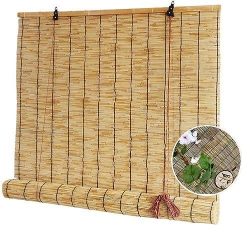 Giow Persianas-Persianas de caña Tejidas a Mano Naturales, persianas enrollables de bambú, Cortina Solar elevable, Soporte para personalización: Amazon.es: Hogar