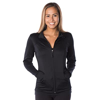 Global Women's Slim Fit Lightweight Full Zip Yoga Workout Jacket