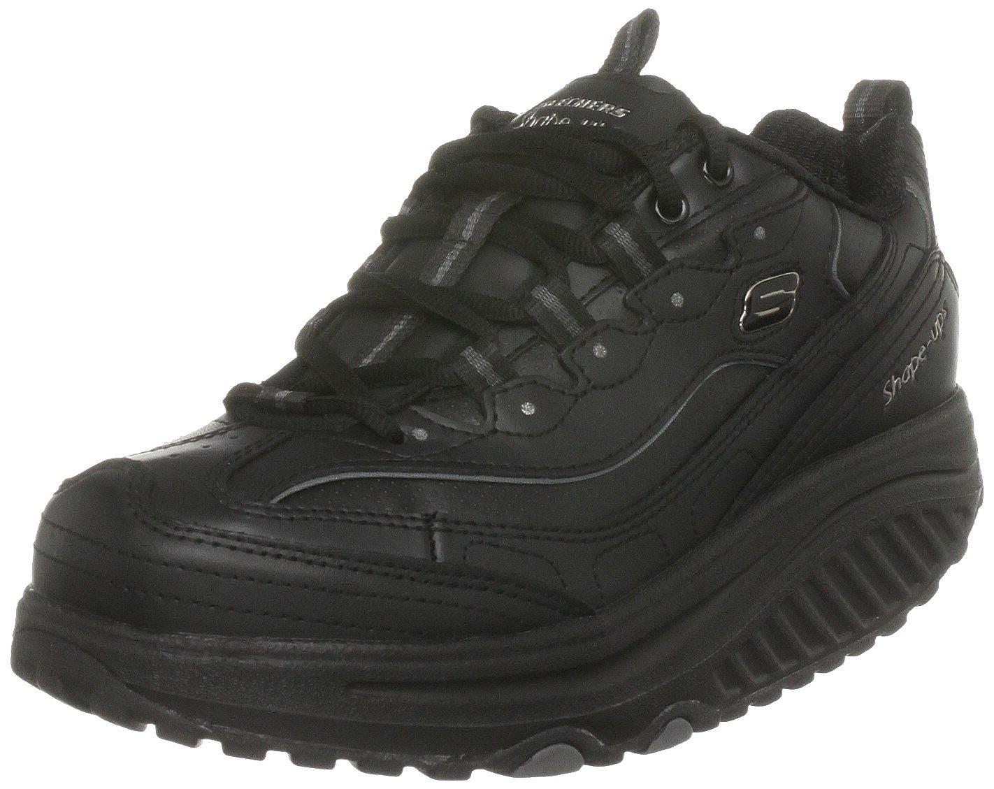 Skechers Women's Shape Ups Metabolize Fitness Work Out Sneaker,Black,8 M US