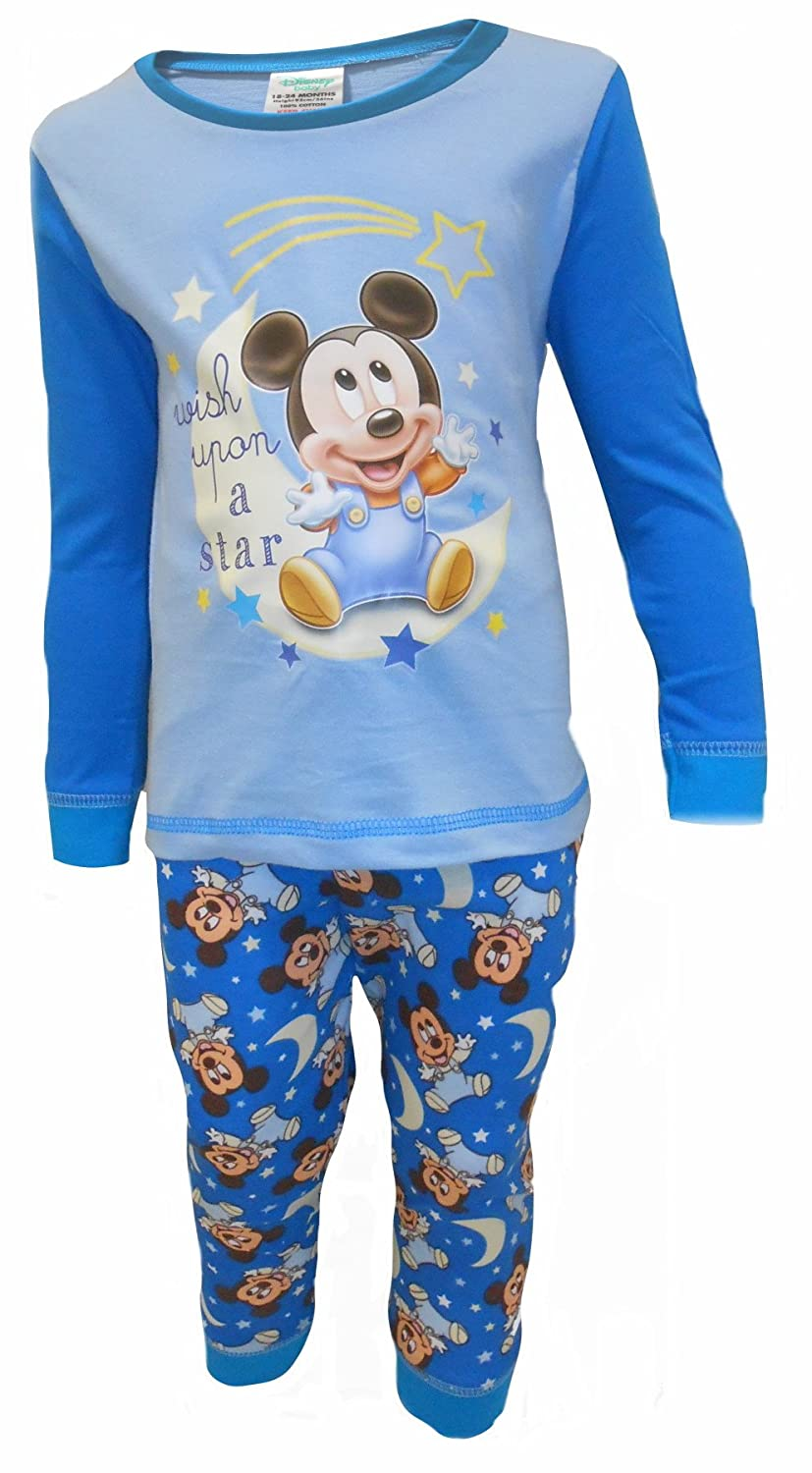 Baby Boy Disney Mickey Mouse Pyjamas Wish 6-9 9-12 12-18 18-24 Months