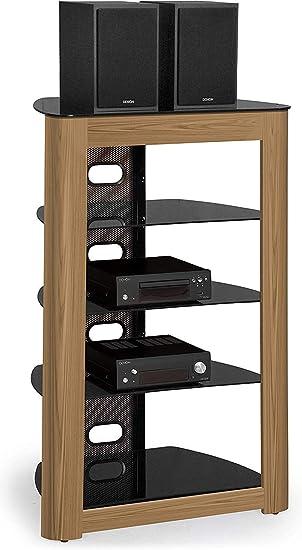 Centurion Support Zinnia - Mueble para TV (5 estantes, Madera de Roble de montaña), Color Negro Brillante: Amazon.es: Electrónica