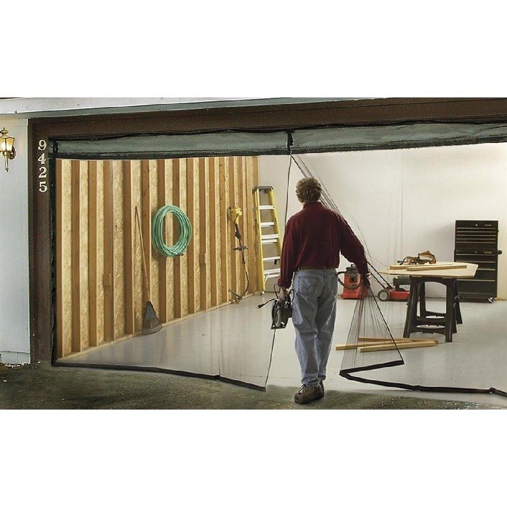 New MTN-G Garage Door Screen Single 8x7 Weighted Bottom Magnetic Bug