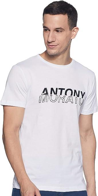 Antony Morato T-Shirt Girocollo Stampa Embossed + Rubber ...