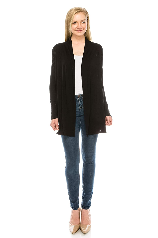 fee67b2d736 EttelLut Long Lightweight Wrap Cardigans Sweaters Open Front Regular Plus  Size MM7001 Christmas gift store