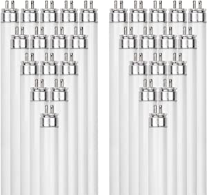 Sunlite F54T5/865/HO 54-Watt T5 Linear Fluorescent Light Bulb Mini Bi Pin Base, 6500K, 40-Pack