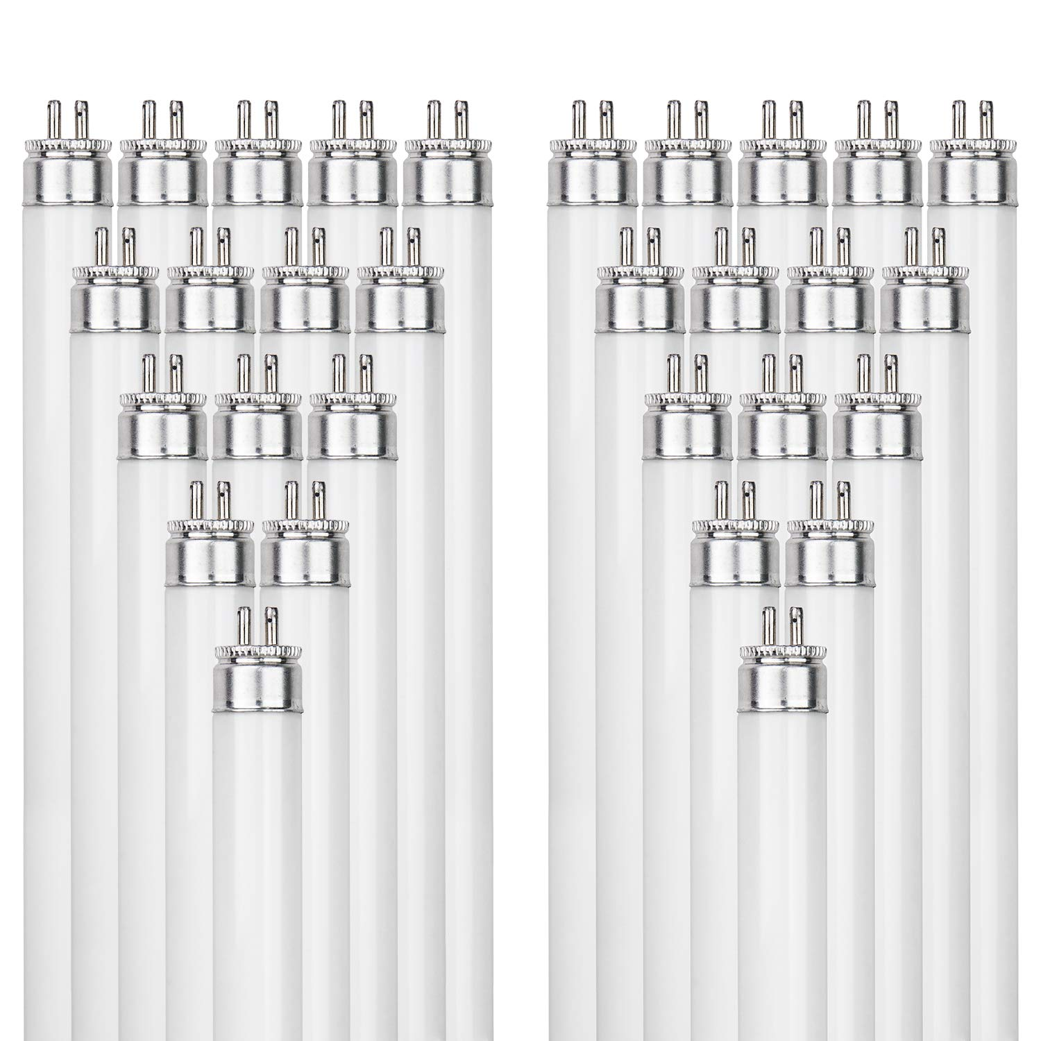 Sunlite F24T5/841/HO 24-Watt T5 Linear Fluorescent Light Bulb Mini Bi Pin Base, 4100K, 40-Pack