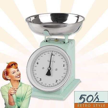 GOURMETmaxx Báscula de Cocina analógica, diseño Retro, Verde Menta, Ok: Amazon.es