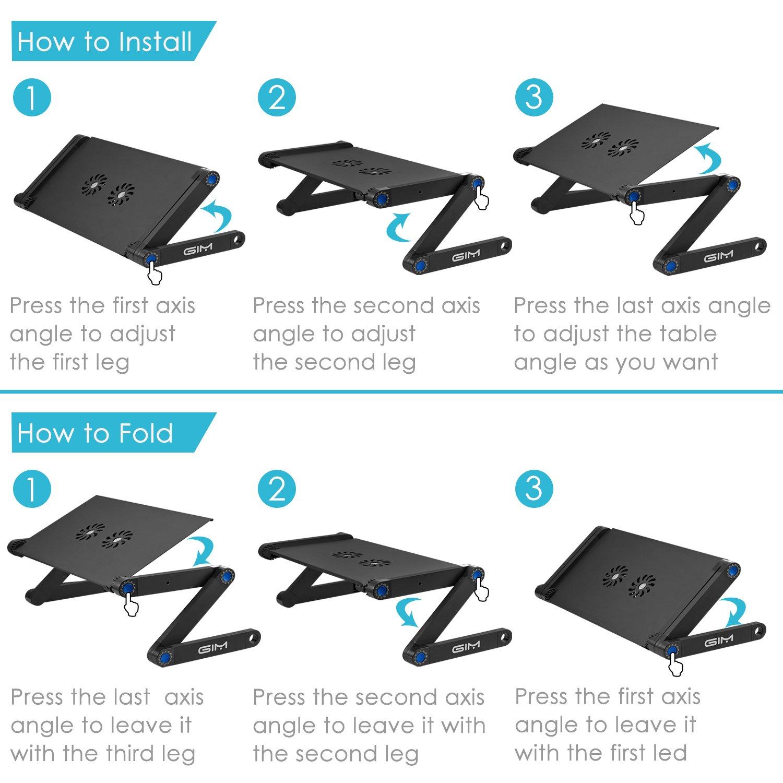 I Global Gim Plegable Ordenador Mall Laptop Stand Mesa Para Portátil EH2I9D