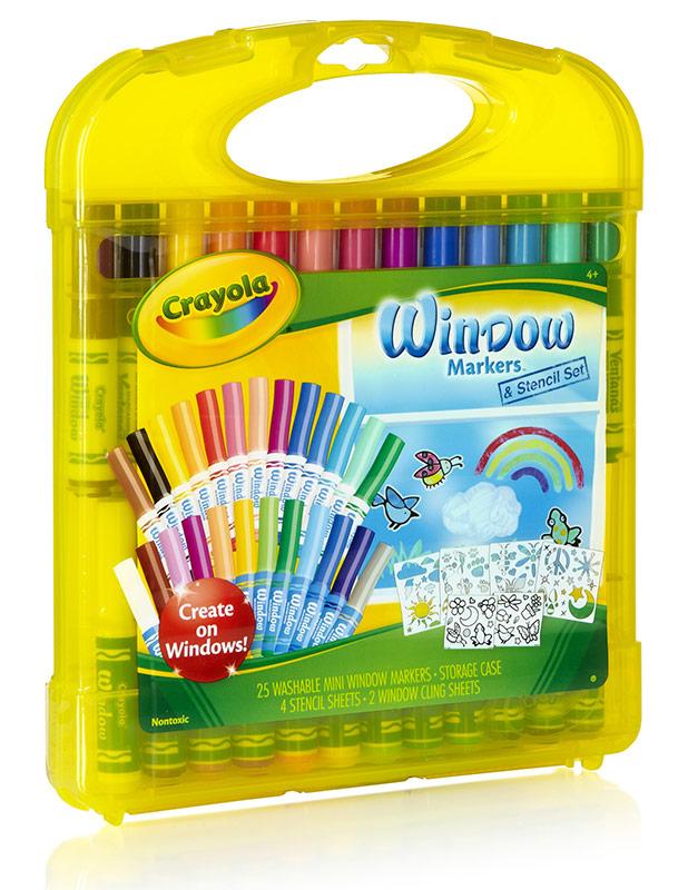 Amazon.com: Crayola Window Marker and Stencil Set, 25 Mini Window