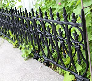 The Kings Bay Victorian Garden Fence Heavy Antique Style Old English Lawn Edging Aluminum
