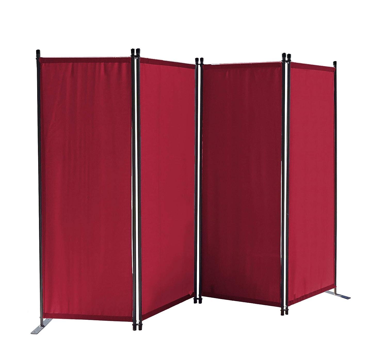 Quick-Star Lot de 2 paravent en Tissu pour s/éparation de Jardin et Balcon Rouge Rubis 170 x 220 cm