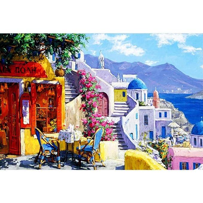 Puzzle House- Santorini, Grecia, Mar Egeo, Rompecabezas de tilo ...