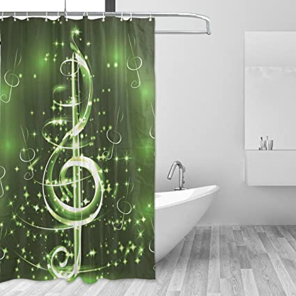 WIHVE Shower Curtain Music Musical Note 60 X 72 Inch Four Seasons Bath Decorations Bathroom Accessories