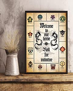 HolyShirts Welcome to Our Home roll for Initiative d&d Game Poster (24 inches x 36 inches)