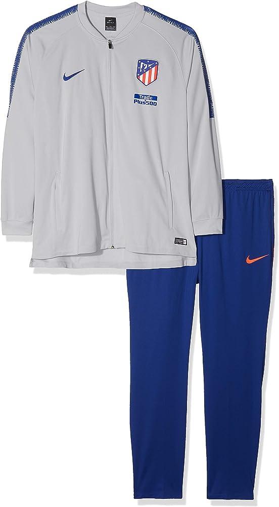 Nike ATM M Nk Dry Sqd TRK K Chándal, Hombre, Gris (Wolf/Deep Royal ...