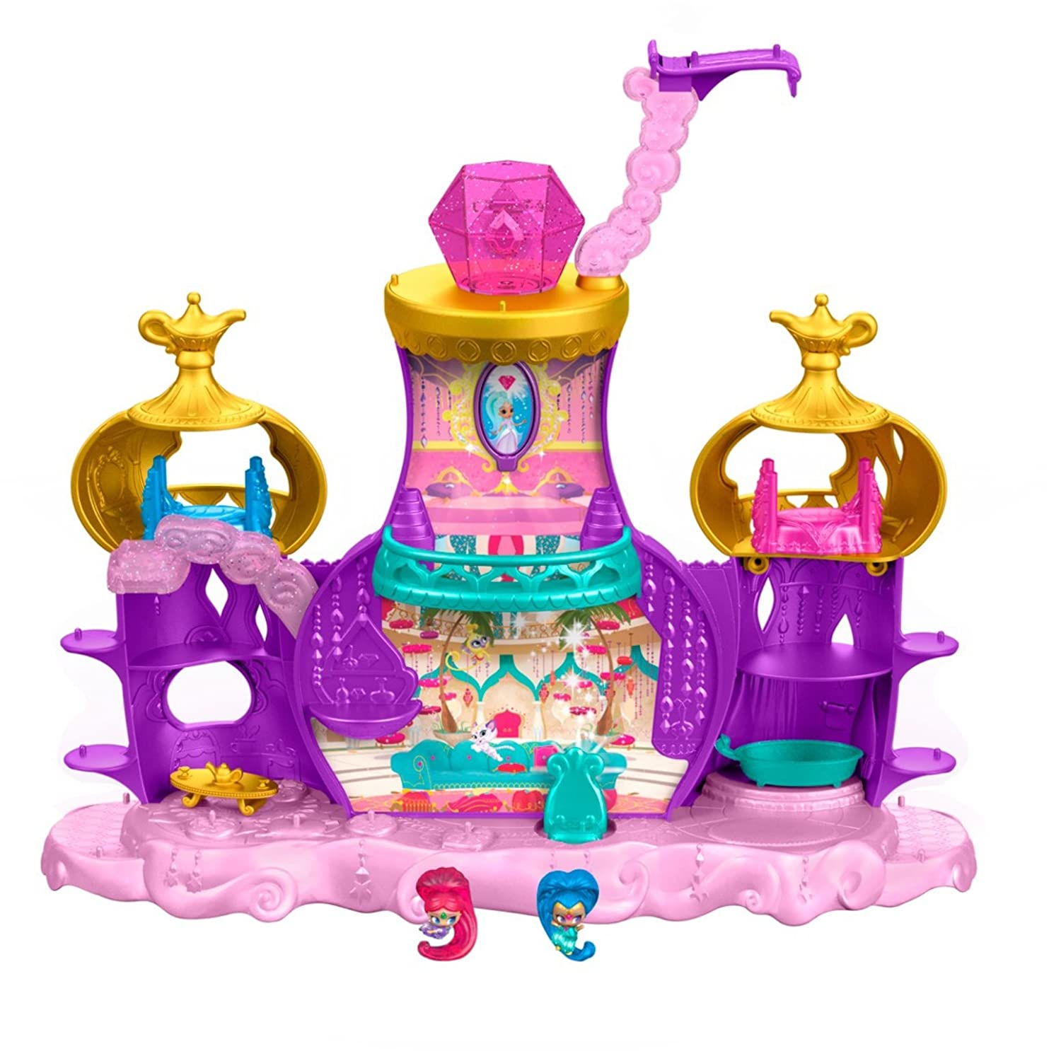 0471253d8 Amazon.com: Fisher-Price Nickelodeon Shimmer & Shine, Teenie Genies,  Floating Genie Palace Playset: Toys & Games
