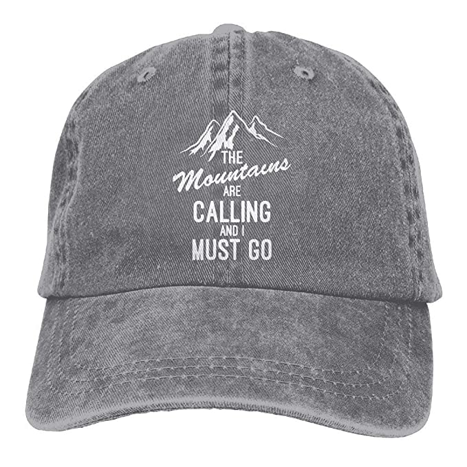 d0d869ed2d9 The Mountains are Calling and I Must Go Adult Cotton Denim Cowboy Hat Sun  Cap W554249  Amazon.ca  Clothing   Accessories
