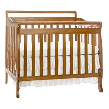 Merveilleux Dream On Me, 3 In 1 Portable Convertible Crib, Oak
