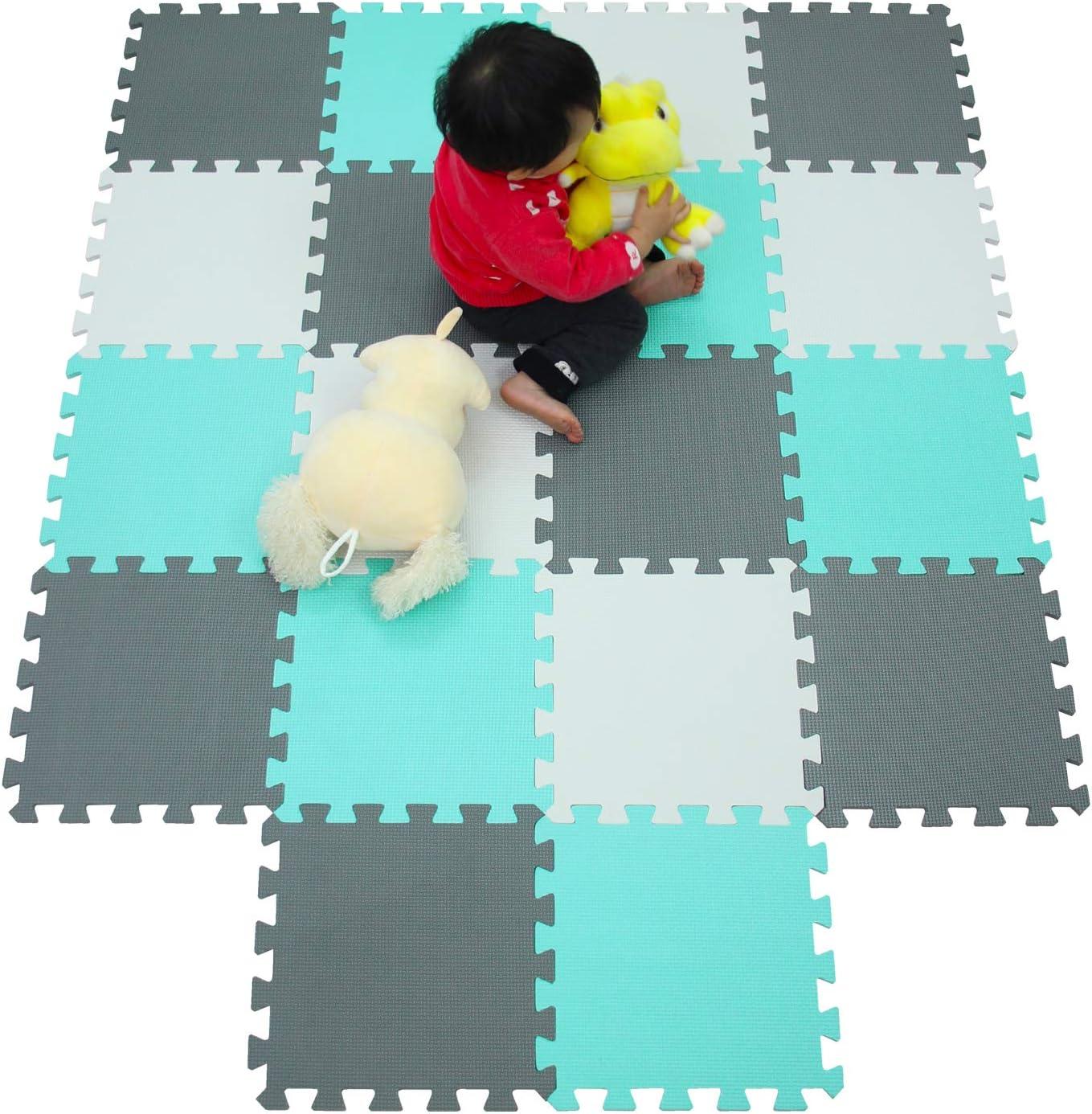 meiqicool Tapis de Jeu Puzzle Mousse Souple 18 Mousse,Tapis de Jeux et d/éveil,Tapis de Puzzles 010812
