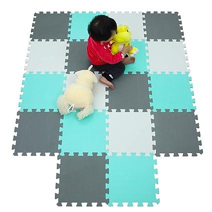 MU SHEN Alfombras Puzzle para Bebé Alfombrilla Niño Suelo Goma EVA 142 X 114 CM 010812