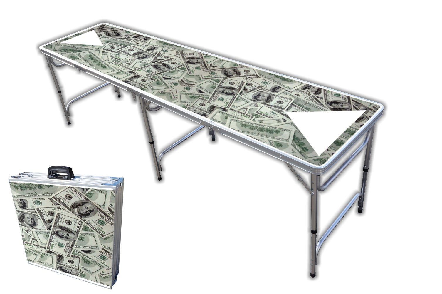 8-Foot Professional Beer Pong Table - So Friggin Money Graphic by PartyPongTables.com