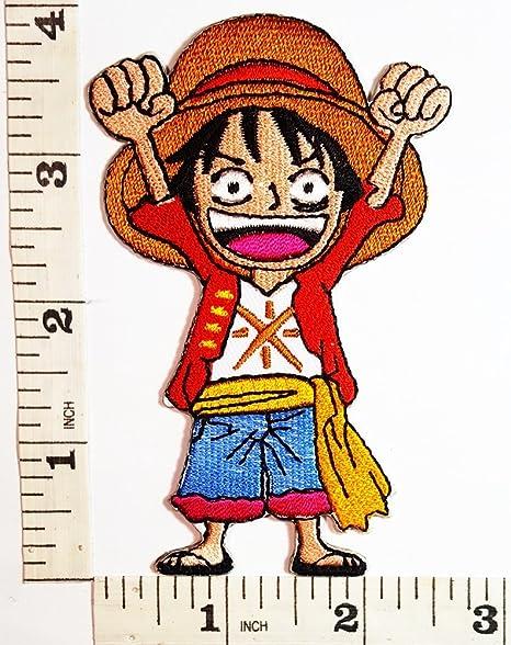 Una pieza Luffy Anime dibujos animados símbolo parche chaqueta ...