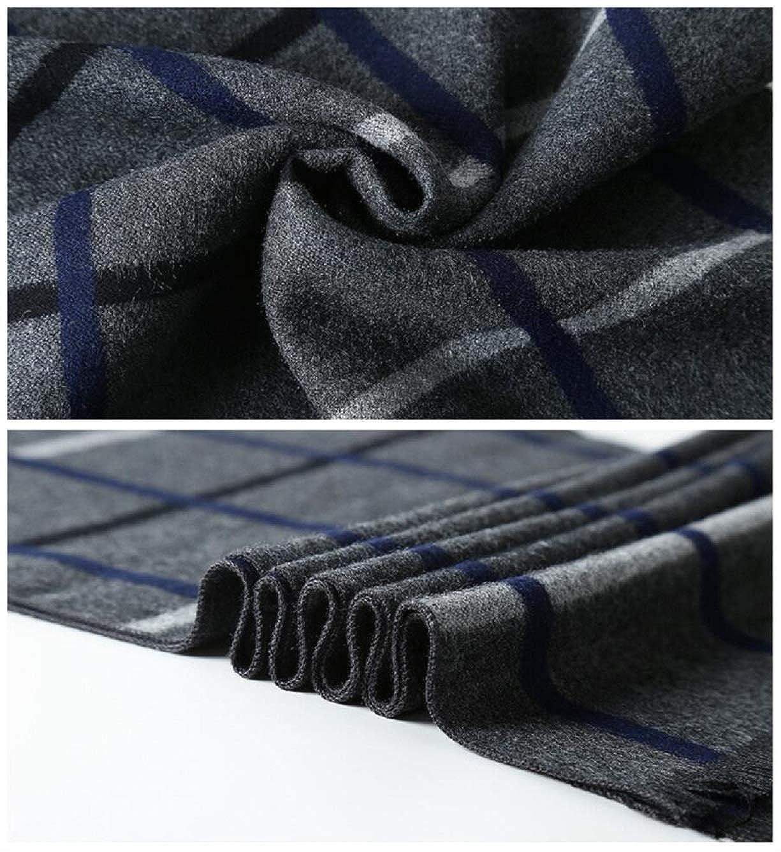 Irypulse Hombre Bufanda c/álida de oto/ño e invierno para de estilo cl/ásico y elegante de Soft largo de la borla tela escocesa de rayas de cuadros con flecos la cachemira Suave Caliente bufanda