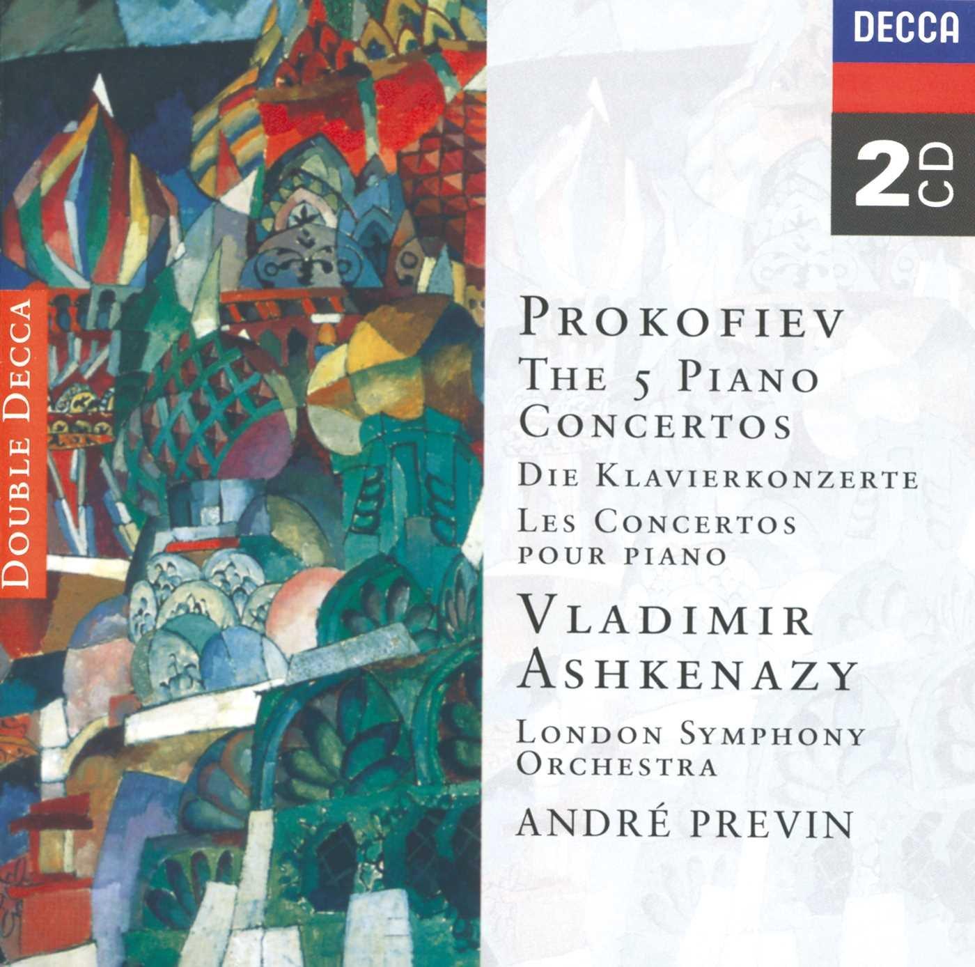Prokofiev: The Five Piano Concertos by CD
