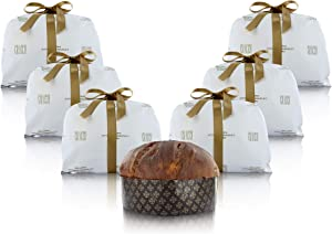 6 Artisan Chocolate Panettone Cakes Baked by Italian Celebrity Chef in Milan (Single Cake: 1 kg / 35 ¼ oz / 2.2 lb)