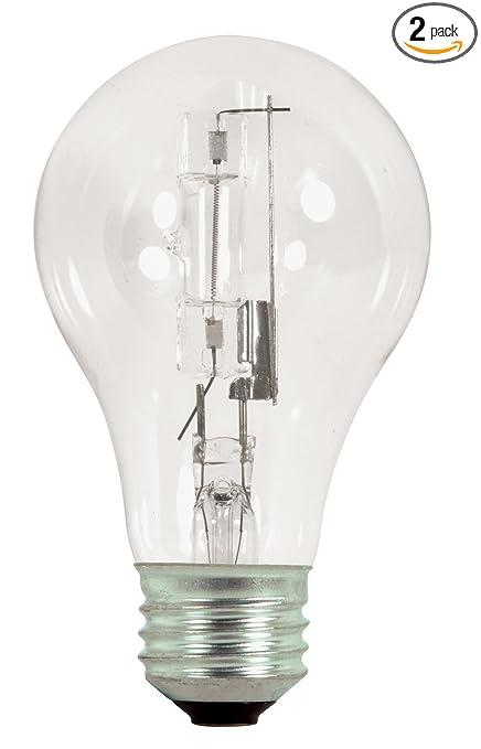 Satco S2404 72 Watt 100 Watt 1490 Lumens A19 Halogen Warm White