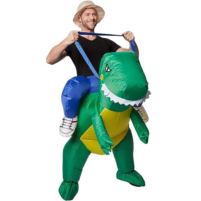 TecTake dressforfun Disfraz montado en Dinosaurio Inflable ...
