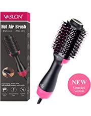VASLON Professional Ionic One Step Hair Dryer 4-in-1 Hot Air Brush Hair Curler Hair Straightener Curling Ionic Hair Brush Blow Dryer Ionic Salon Hair Tool for All Hairstyle