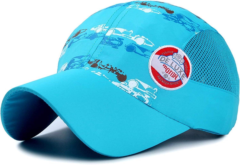 Summer Children Sun Caps Dry Fit Soft Lightweight Foldable Baseball Cap Without Top Button Cool Running Hat