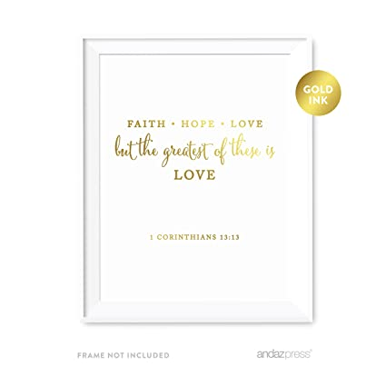 Amazon Com Andaz Press Biblical Wedding Love Quote Wall Art