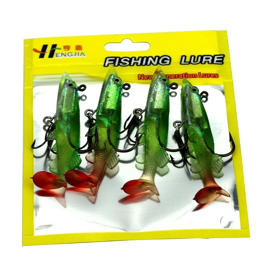 WARM home Allaperto Lunghezza Esche Artificiali in plastica di Alburnus Esche Artificiali per la Pesca Esche da Pesca bioniche con Ganci Strumento YYZM 8 cm