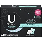 Kotex Refresh Flushable Moist Wipes, 24 Count